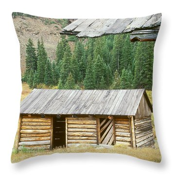 Independence Ghost Town Throw Pillow by David Davis