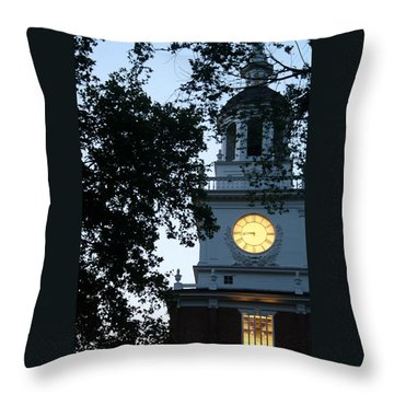 Independence Hall At Dusk Throw Pillow by Christopher Woods