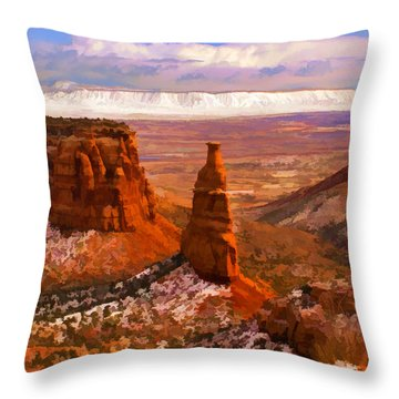 Independence Monument Throw Pillow