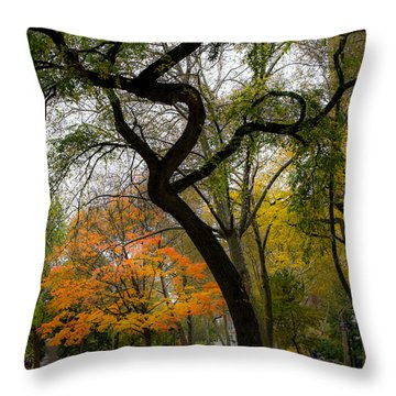 Independent Trees Throw Pillow