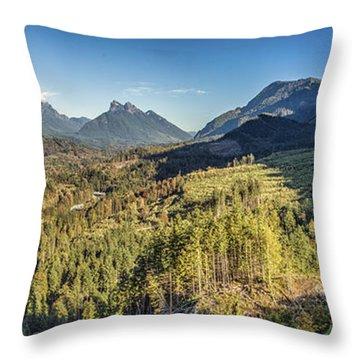 Index Mountains Panorama Throw Pillow