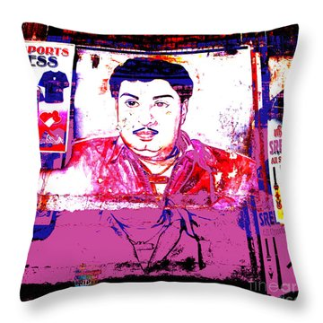 India Dress Maker Billboard  Throw Pillow