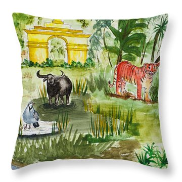 India Friends Throw Pillow
