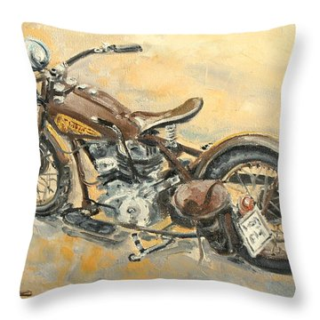 Indian Chief 1938 Throw Pillow