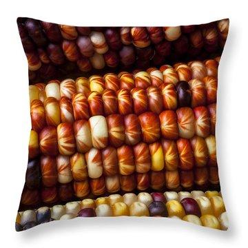 Indian Corn Harvest Time Throw Pillow