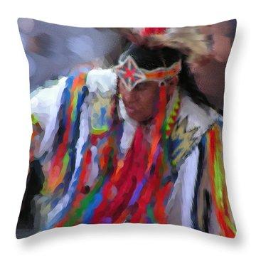 Da121 Indian Dance By Daniel Adams Throw Pillow