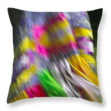 Throw Pillow featuring the photograph Indian Dance by Randy Pollard