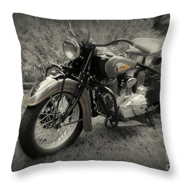 Throw Pillow featuring the photograph Indian Encounter by Myrna Bradshaw