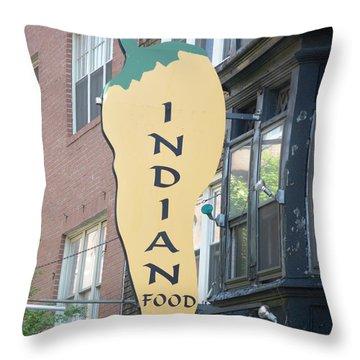 Indian Food Throw Pillow by Sonali Gangane