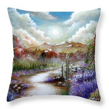 Throw Pillow featuring the painting Indian Gin And Whiskey Dry by Patrice Torrillo