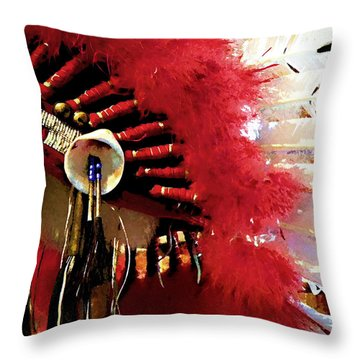 Indian Headdress Throw Pillow