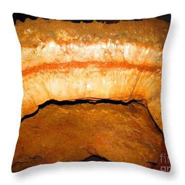 Indian Headdress. Sitting Bull Crystal Caverns Throw Pillow by Ausra Huntington nee Paulauskaite