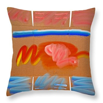 Indian Land Throw Pillow by Charles Stuart
