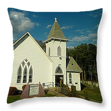 Indian Mission United Methodist Church Harbeson Delaware Throw Pillow by Pamela Hyde Wilson