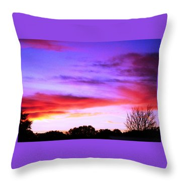 Indian Morning Sky Throw Pillow by Belinda Lee