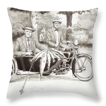 Indian Motorcylce Founders Throw Pillow