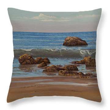 Indian Ocean. Gokarna. Kudlee Beach Throw Pillow