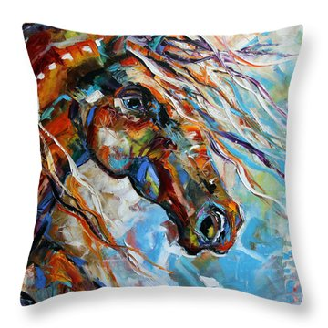 Indian Paint Pony Throw Pillow