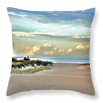 Indian River Inlet - Delaware State Parks Throw Pillow