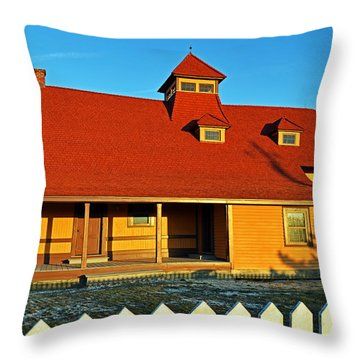 Indian River Lifesaving Station Museum Throw Pillow
