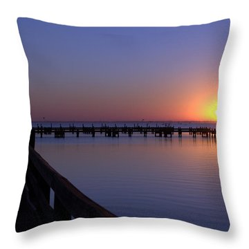 Indian River Sunrise Throw Pillow by Brian Harig
