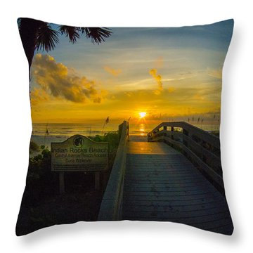 Indian Rocks Sunset Throw Pillow