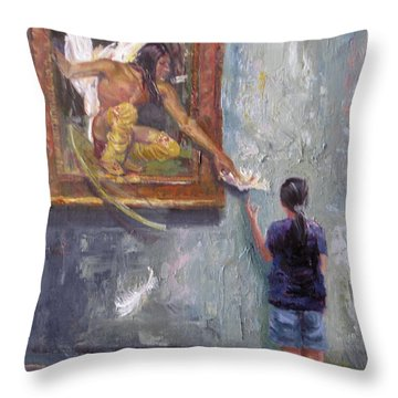 Indian Shares The Lily Throw Pillow