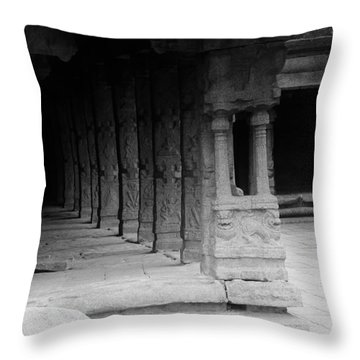 Indian Temple Architecture Throw Pillow by Ramabhadran Thirupattur