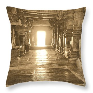 Throw Pillow featuring the photograph Indian Temple by Mini Arora