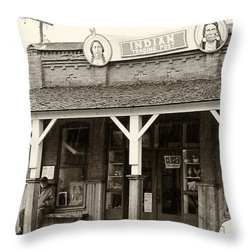 Indian Trading Post Virginia City Montana 02 Throw Pillow by Thomas Woolworth