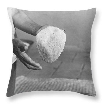 Indian Woman Making Tortillas Throw Pillow