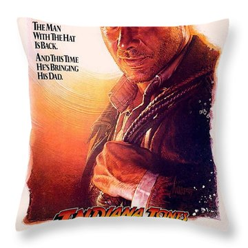 Indiana Jones And The Last Crusade  Throw Pillow by Movie Poster Prints