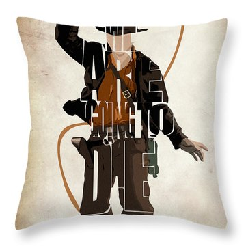 Indiana Jones Vol 2 - Harrison Ford Throw Pillow by Ayse and Deniz