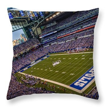 Indianapolis And The Colts Throw Pillow