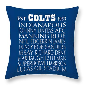 Indianapolis Colts Throw Pillow