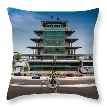 Indianapolis Motor Speedway Throw Pillow