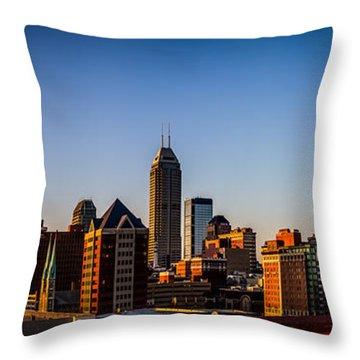 Indianapolis Skyline - South Throw Pillow