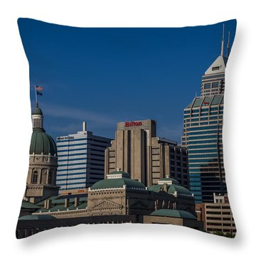 Indianapolis Skyscrapers Throw Pillow