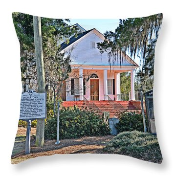 Throw Pillow featuring the photograph Indiantown Presbyterian IIi by Linda Brown