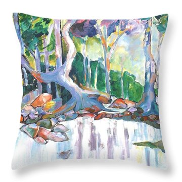 Indigiscape In Colour Throw Pillow
