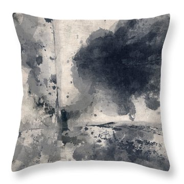Indigo Clouds 1 Throw Pillow