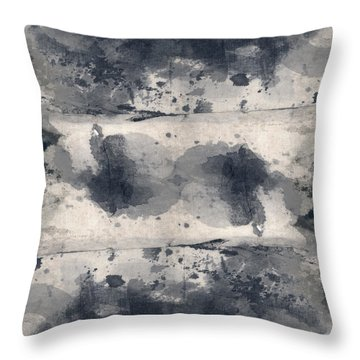 Indigo Clouds 2 Throw Pillow
