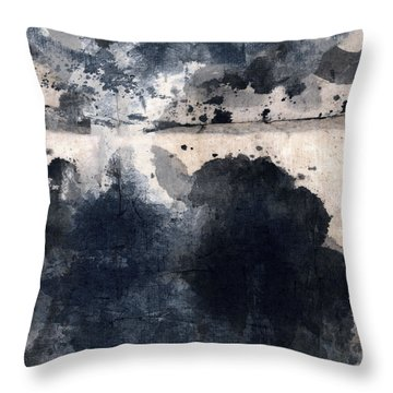 Indigo Clouds 4 Throw Pillow