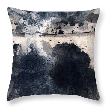 Indigo Clouds 4 Throw Pillow