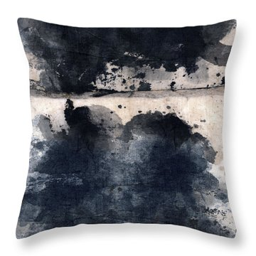 Indigo Clouds 5 Throw Pillow