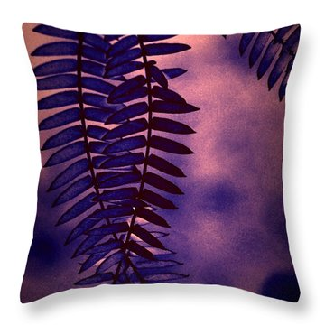 Indigo Haze Throw Pillow