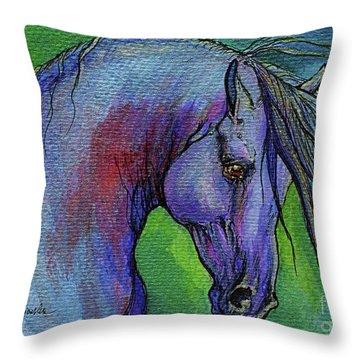 Indigo Horse Throw Pillow