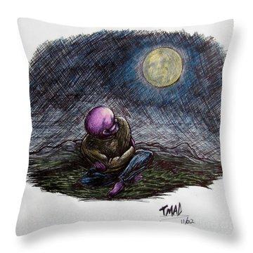 Indigo Night Throw Pillow