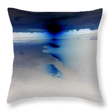Indigo Sunset Throw Pillow