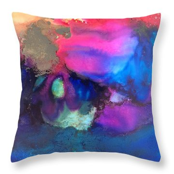 Indigo Spirits Throw Pillow
